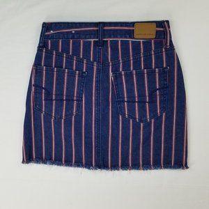 American Eagle 00 Regular Hi Rise Blue Mini Skirt